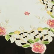 Trilho de Mesa com Bordado Richelieu 40x85cm Avulso - Anita Rosa - Dui Design