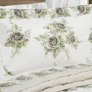 Kit: 1 Cobre-leito Solteiro + 1 Porta-travesseiro 150 fios - Antonieta Stone - Dui Design