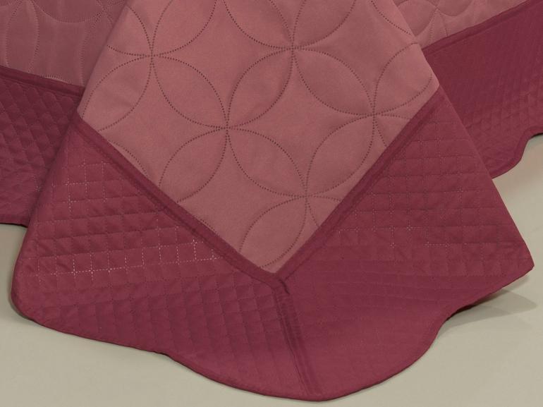 Kit: 1 Cobre-leito Casal Bouti de Microfibra Ultrasonic + 2 Porta-travesseiros - Antony Rosa - Dui Design
