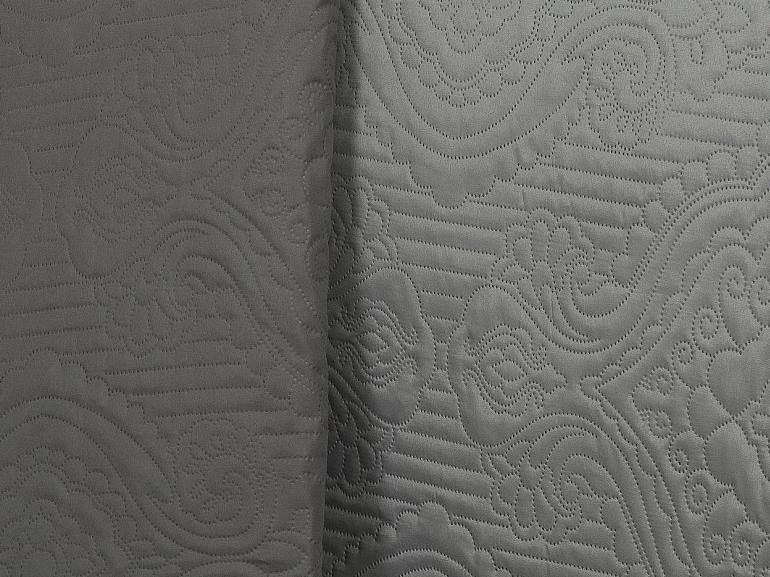 Kit: 1 Cobre-leito Casal Bouti de Microfibra Ultrasonic + 2 Porta-travesseiros - Aquila Cinza - Dui Design