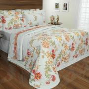 Kit: 1 Cobre-leito Solteiro + 1 Porta-travesseiro Percal 200 fios - Aretusa Terracota - Dui Design