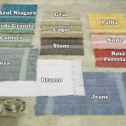 Tapete com Franja 40x60cm de algodão com antiderrapante 1400g/m² - Artesian - Dui Design