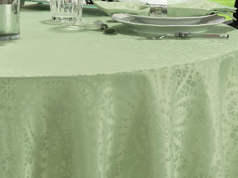 Toalha de Mesa Fácil de Limpar Redonda 220cm - Artesian Verde Claro - Dui Design