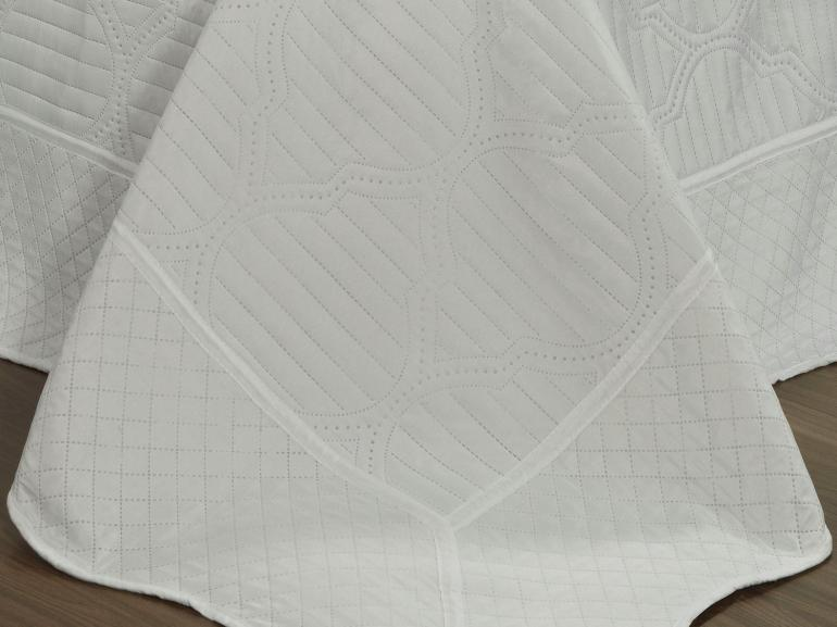 Kit: 1 Cobre-leito Solteiro Bouti de Microfibra Ultrasonic + 1 Porta-travesseiro - Assis Branco - Dui Design