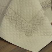 Jogo de Cama Queen Percal 200 fios com Bordado Inglês - Astoria Bege - Dui Design
