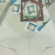 Kit: 1 Cobre-leito Solteiro Bouti de Microfibra Ultrasonic Estampada + 1 Porta-travesseiro - Atrium Sage - Dui Design