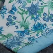 Edredom King Percal 180 fios - Aurea Azul - Dui Design
