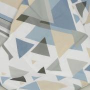 Jogo de Cama Casal Percal 180 fios - Austin Azul - Dui Design