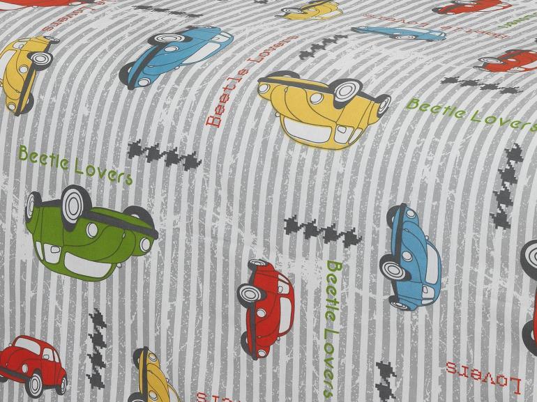 Jogo de Cama Solteiro Kids 150 fios 100% Algodão - Automóveis - Teka