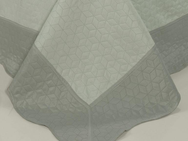 Kit: 1 Cobre-leito Casal Bouti de Microfibra Ultrasonic + 2 Porta-travesseiros - Avalon Stone - Dui Design