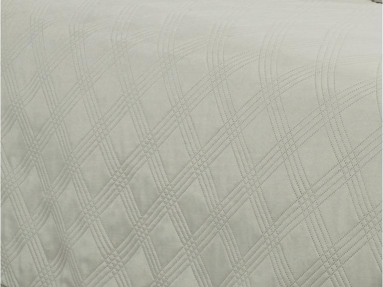 Kit: 1 Cobre-leito Casal Bouti de Microfibra Ultrasonic + 2 Porta-travesseiros - Balboa Bege - Dui Design