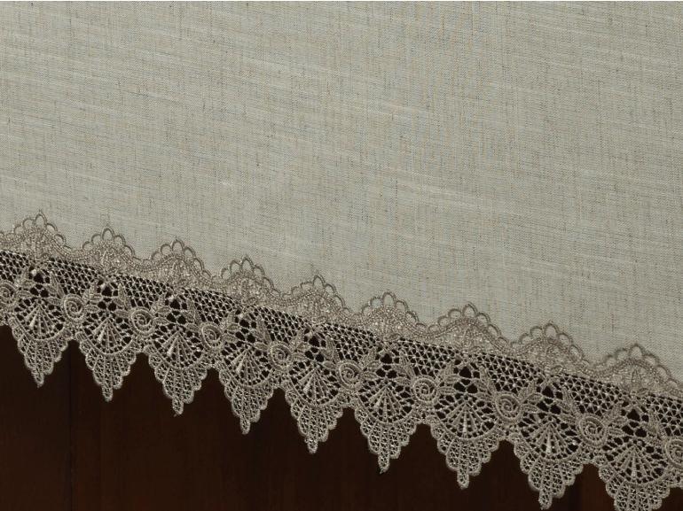 Toalha de Mesa de Linho com Bordado Guipir Retangular 6 Lugares 160x220cm - Bari Linho e Fendi - Dui Design