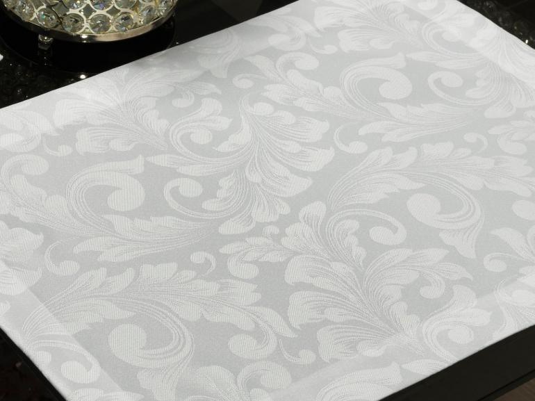 Jogo Americano 4 Lugares (4 peças) Fácil de Limpar 35x50cm - Baroque Branco - Dui Design