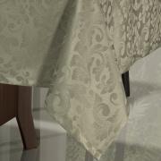 Toalha de Mesa Fácil de Limpar Retangular 8 Lugares 160x270cm - Baroque Fendi - Dui Design