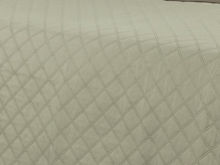 Kit: 1 Cobre-leito Queen Bouti de Microfibra Ultrasonic + 2 Porta-travesseiros - Basic Taupe - Dui Design