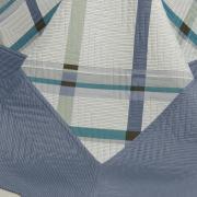 Kit: 1 Cobre-leito Solteiro Bouti de Microfibra Ultrasonic Estampada + 1 Porta-travesseiro - Bauman Azul - Dui Design