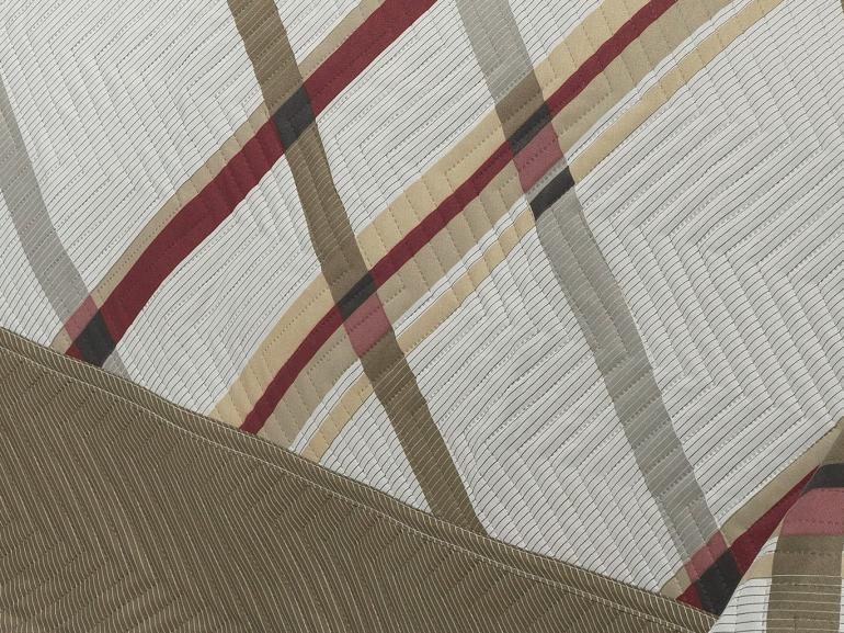 Kit: 1 Cobre-leito Solteiro Bouti de Microfibra Ultrasonic Estampada + 1 Porta-travesseiro - Bauman Taupe - Dui Design