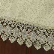 Toalha de Mesa com Bordado Guipir Fácil de Limpar Retangular 8 Lugares 160x270cm - Beatrice Bege - Dui Design