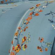 Jogo de Cama Queen Percal 200 fios - Beatrice Indigo - Dui Design