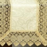 Trilho de Mesa com Bordado Guipir Fácil de Limpar 45x170cm Avulso - Beatrice Vanilla - Dui Design