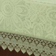 Toalha de Mesa com Bordado Guipir Fácil de Limpar Quadrada 8 Lugares 220x220cm - Beatrice Verde Claro - Dui Design
