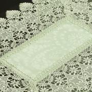 Jogo Americano 4 Lugares (4 peças) com Bordado Guipir Fácil de Limpar 35x50cm - Beatrice Verde Claro - Dui Design