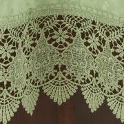 Toalha de Mesa com Bordado Guipir Fácil de Limpar Redonda 180cm - Beatrice Verde Claro - Dui Design