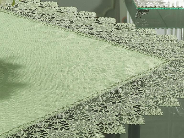 Centro de Mesa com Bordado Guipir Fácil de Limpar 85x85cm Avulso - Beatrice Verde Claro - Dui Design
