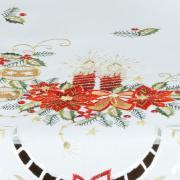 Centro de Mesa Natal Quadrado com Bordado Richelieu 85x85cm - Belem Branco - Dui Design