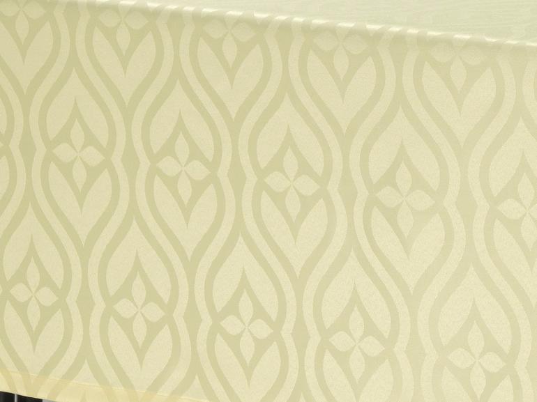 Toalha de Mesa Fácil de Limpar Quadrada 8 Lugares 220x220cm - Belgrado Champagne - Dui Design