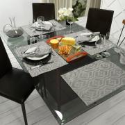 Jogo Americano 4 Lugares (4 peças) Fácil de Limpar 35x50cm - Belgrado Cinza Dove - Dui Design