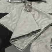 Kit: 4 Guardanapos 50x50cm - Belgrado Cinza Dove - Dui Design