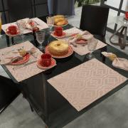 Jogo Americano 4 Lugares (4 peças) Fácil de Limpar 35x50cm - Belgrado Rosa Velho - Dui Design