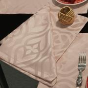 Kit: 4 Guardanapos 50x50cm - Belgrado Rosa Velho - Dui Design