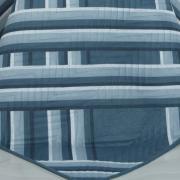 Kit: 1 Cobre-leito Casal Bouti de Microfibra Ultrasonic Estampada + 2 Porta-travesseiros - Belmont Azul - Dui Design