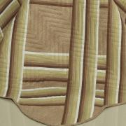 Kit: 1 Cobre-leito Solteiro Bouti de Microfibra Ultrasonic Estampada + 1 Porta-travesseiro - Belmont Camurça - Dui Design