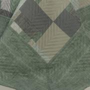 Kit: 1 Cobre-leito Solteiro Bouti de Microfibra Ultrasonic Estampada + 1 Porta-travesseiro - Belvedere Verde - Dui Design