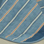 Kit: 1 Cobre-leito King + 2 Porta-travesseiros 150 fios - Benny Indigo - Dui Design