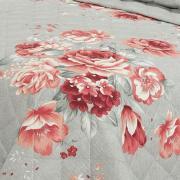 Kit: 1 Cobre-leito Casal + 2 Porta-travesseiros 150 fios - Betânia Carmim - Dui Design
