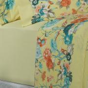 Jogo de Cama Queen Percal 200 fios - Bianca Amarelo - Dui Design