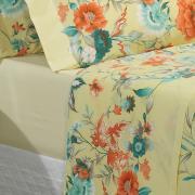 Jogo de Cama King Percal 200 fios - Bianca Amarelo - Dui Design