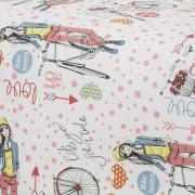 Jogo de Cama Solteiro Kids 150 fios 100% Algodão - Bike Lovers - Teka