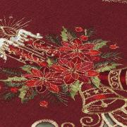 Trilho de Mesa Natal com Bordado Richelieu 40x85cm Avulso - Boas Festas Vermelho - Dui Design