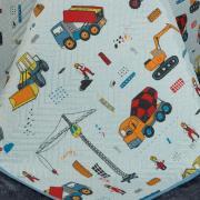 Kit: 1 Cobre-leito Casal Kids Bouti de Microfibra PatchWork Ultrasonic + 2 Porta-travesseiros - Bobi Kids - Dui Design