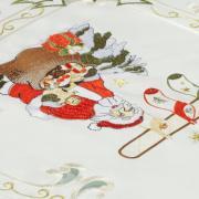 Trilho de Mesa Natal com Bordado Richelieu 40x85cm Avulso - Bom Natal Natural - Dui Design