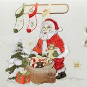 Trilho de Mesa Natal com Bordado Richelieu 45x170cm Avulso - Bom Natal Natural - Dui Design