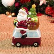 Bomboniere Natal de Cerâmica com 18,8cm de altura - Carro Noel - Dui Design