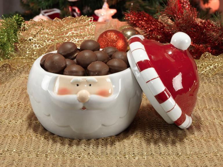 Bomboniere Natal de Cerâmica com 19,8cm de altura - Hohoho - Dui Design