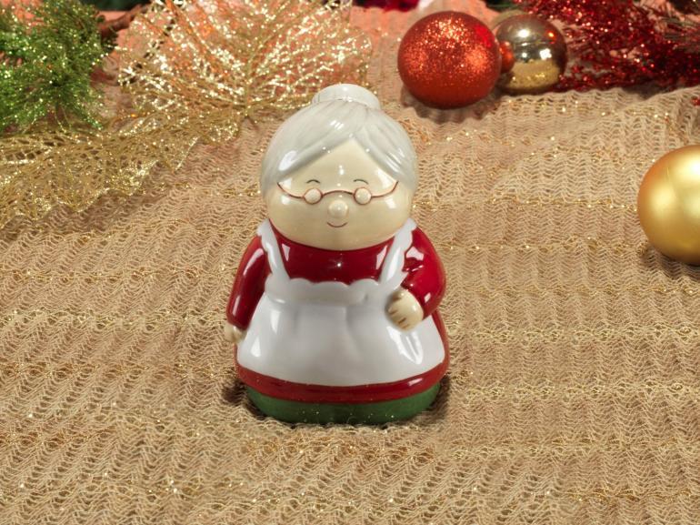 Bomboniere Natal de Cerâmica com 14,4cm de altura - Mamãe Noel - Dui Design