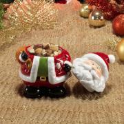 Bomboniere Natal de Cerâmica com 17,5cm de altura - Papai Noel - Dui Design